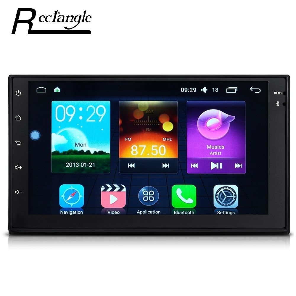 7033 Android 6.0.1 Car Radio Multimedia Player 2din GPS Navigation WiFi Support OBD DAB and RDS Radio Function Subwoofer Output