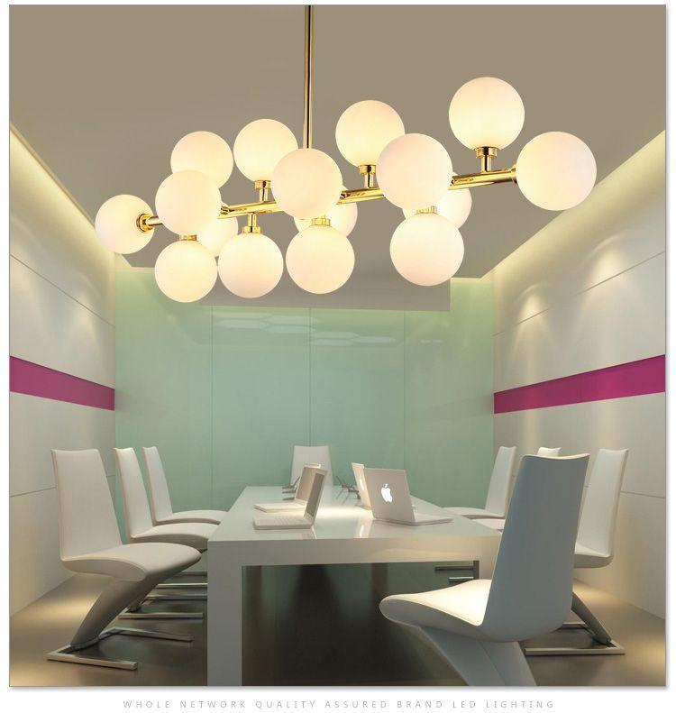 Modern magic beans DNA Lustres pendant light Modo Nordic Art Deco led striplight glass hanging lighting fixtures