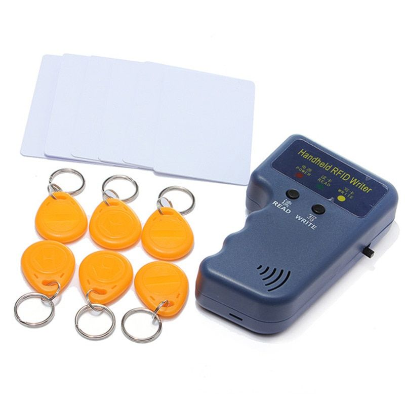 RFID Handheld 125KHz EM4100 ID <font><b>Card</b></font> Copier Writer Duplicator with 6 Writable Tags + 6 Writable <font><b>Cards</b></font>