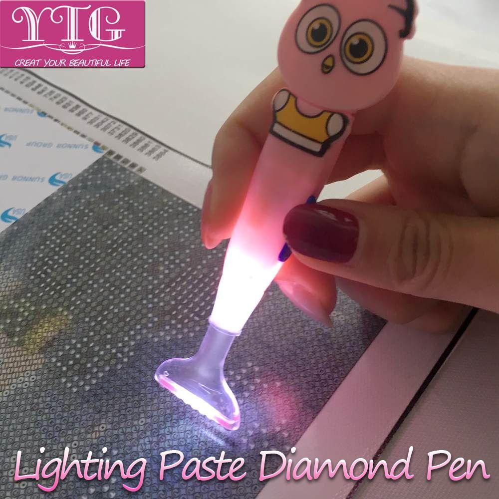 YTG,Diamond Embroidery,Tools,Lighting,Pen,Paste Diamond,Easy,Clearer,Diamond Painting,Cross Stitch,5D,Needlework,Decoration,Gift