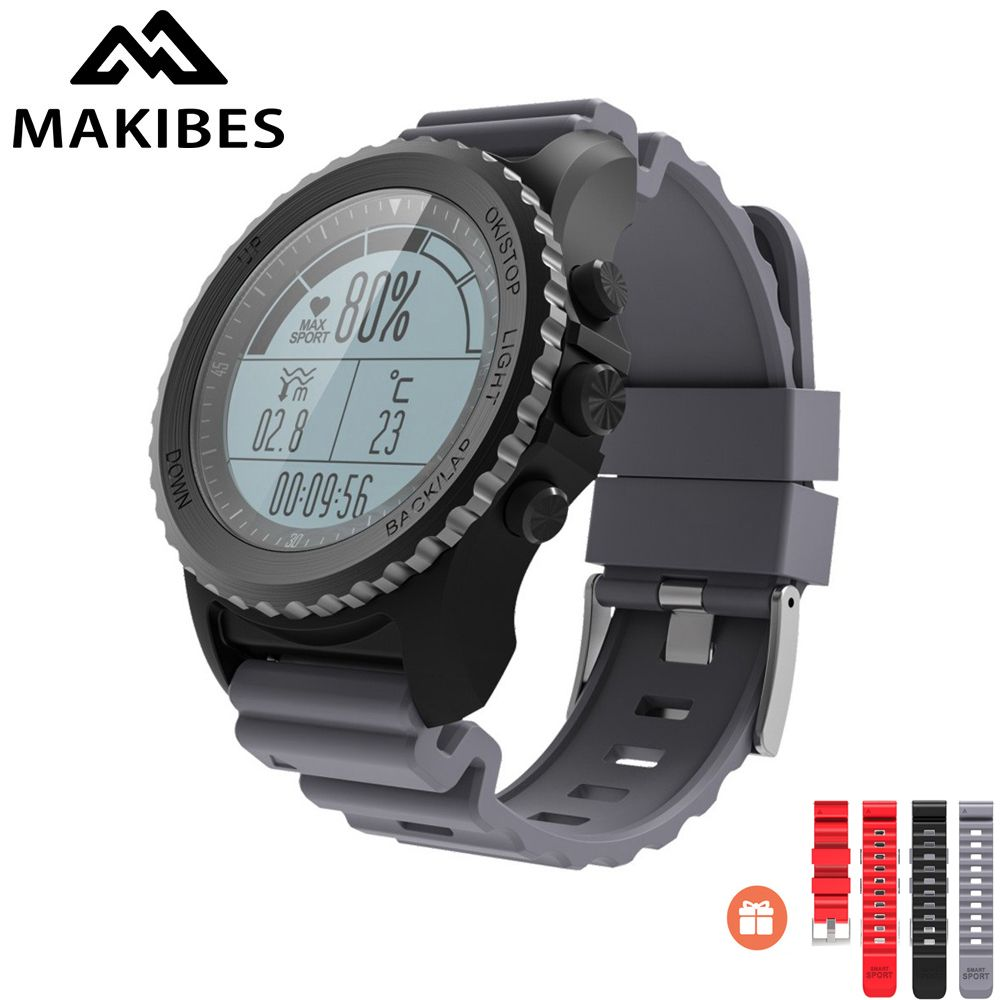 Original Makibes G07 IP68 Water resistent GPS Smart Sport Watch Bluetooth Health Tracker Smart Watch Dynamic Heart Rate monitor