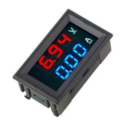 Мини цифровой вольтметр амперметр DC 100 В в 10A щитовой Амперметр вольт измеритель тока тестер 0,28