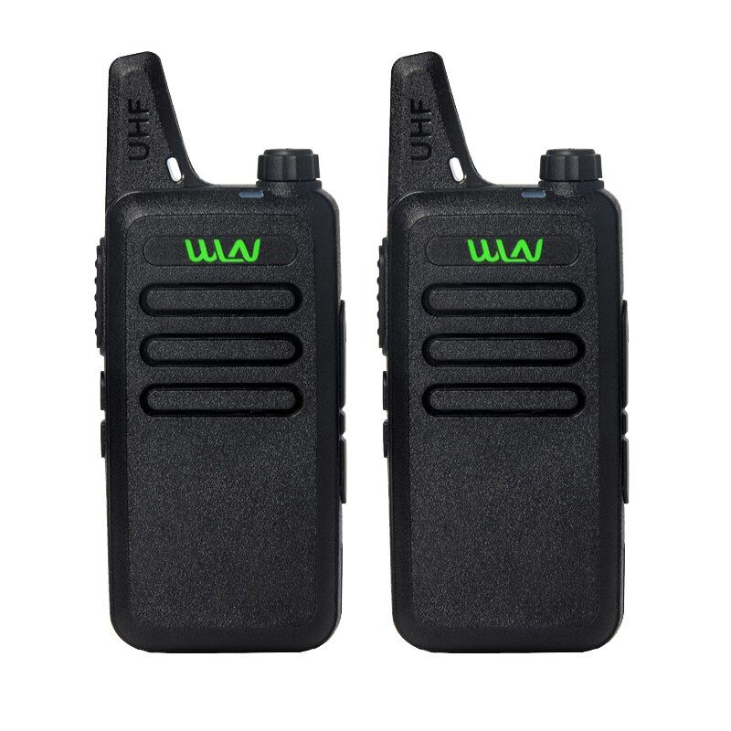 2Pcs/lot WLN KD-C1 UHF 400-470 MHz Black handheld transceiver cb radio mini radio walkie talkie