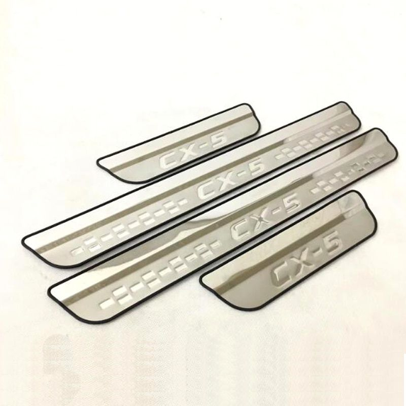 For Mazda CX-5 Cx5 2018 2017 Door Sill Scuff Plate Welcome Pedal Stainless Steel Car Styling Car Accessories