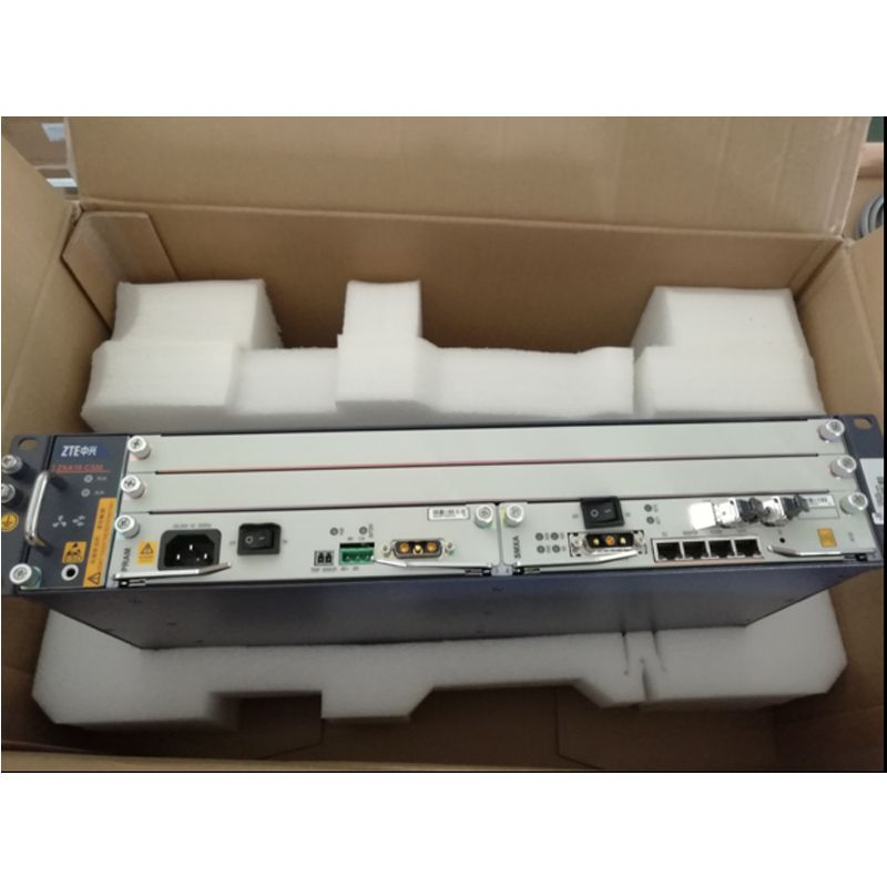 Original Optical Line Terminal Ausrüstung ZTE ZXA10 C320 Gigabit OLT mit 2 * SXMA karte, (DC Power) + GTGH 16 Gpon ports SFP C +