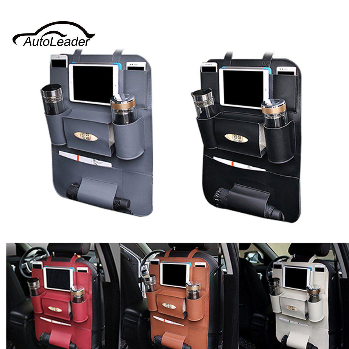 Искусственная Кожа Автокресло хранения сумка висит Сумки заднем сиденье автомобиля мешок многофункциональный автомобиль ящик для хранени...