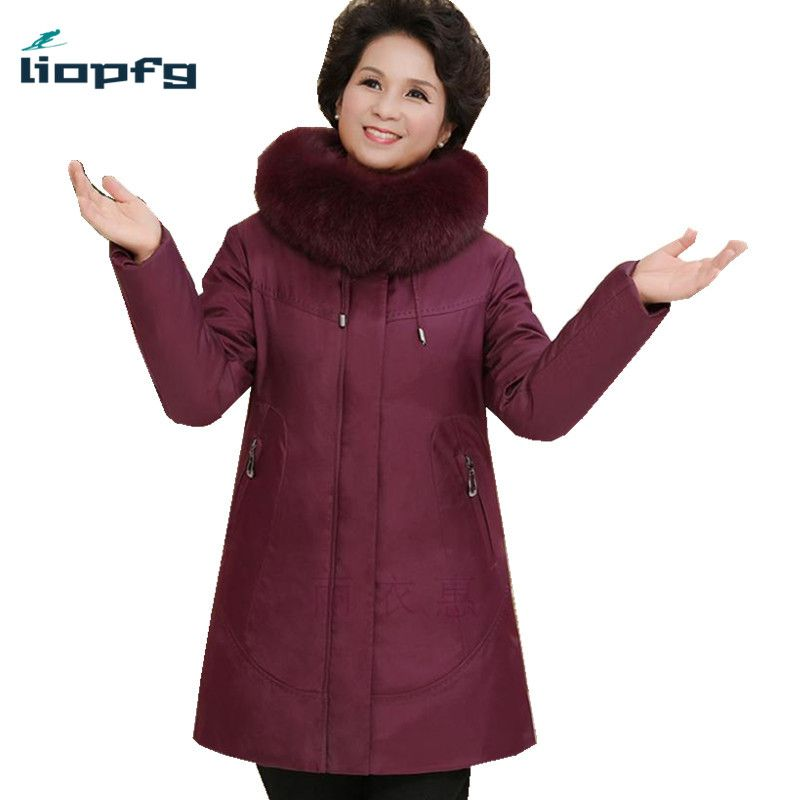 2017 New Fashion Large Size Women Down Jackets Winter Duck Down Coat With Big Fur Hooded Collar Thick Warm Parkas PQ075