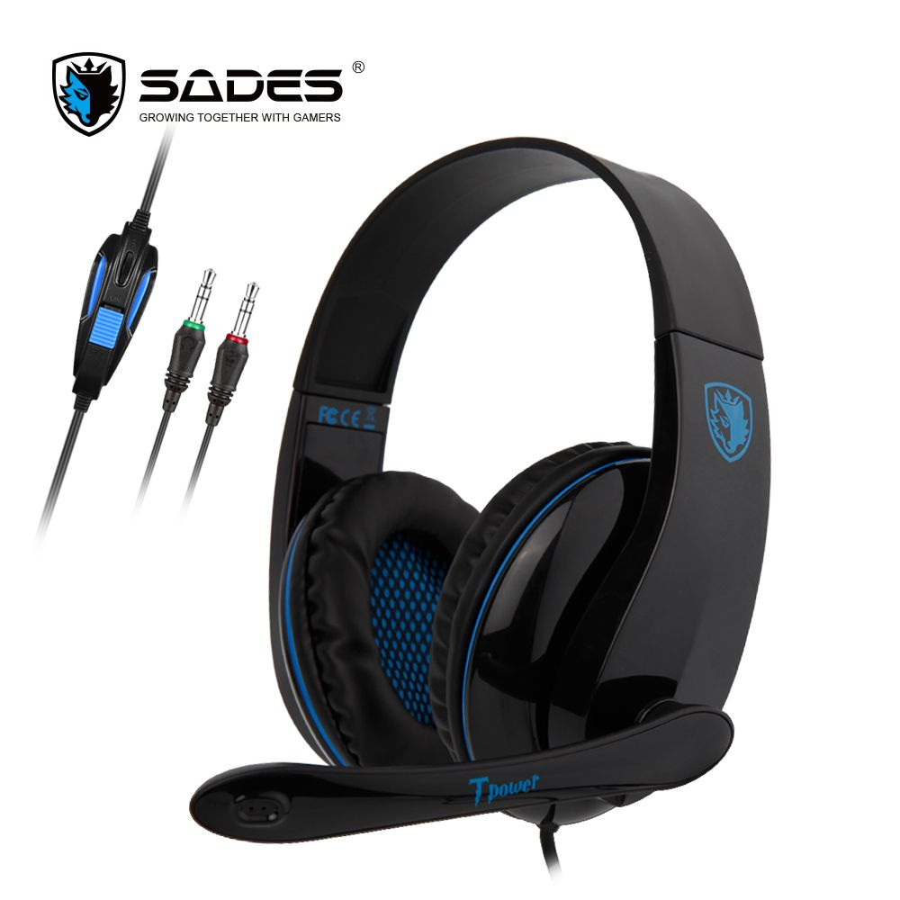 SADES TPOWER Gaming Headset Headphones 3.5mm Stereo <font><b>Sound</b></font> Noise Cancelling For PC/XBOX/PS4