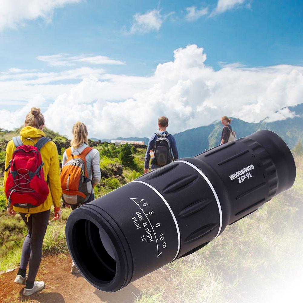 Portable 16X52 Haute Sur Jumelles Télescope Monoculaire 66/8000 m En Plastique Jumelles En Plein Air Noir Sports de Plein Air Télescope