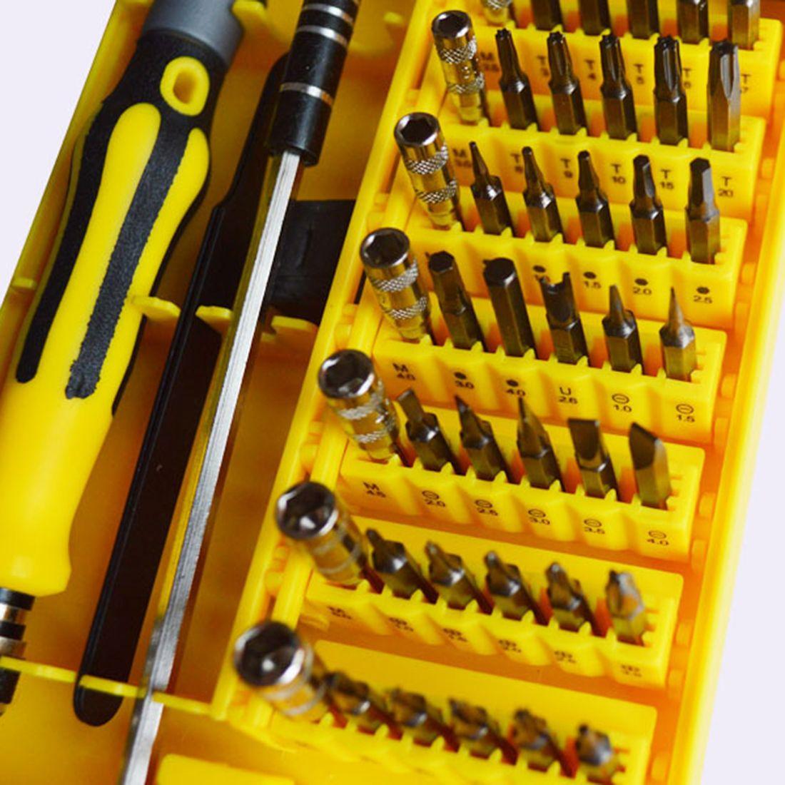 Hot 45 en 1 professionnel Torx tournevis ensemble précision pour montre ordinateur pour iPhone Samsung téléphone intelligent réparation démonter outils