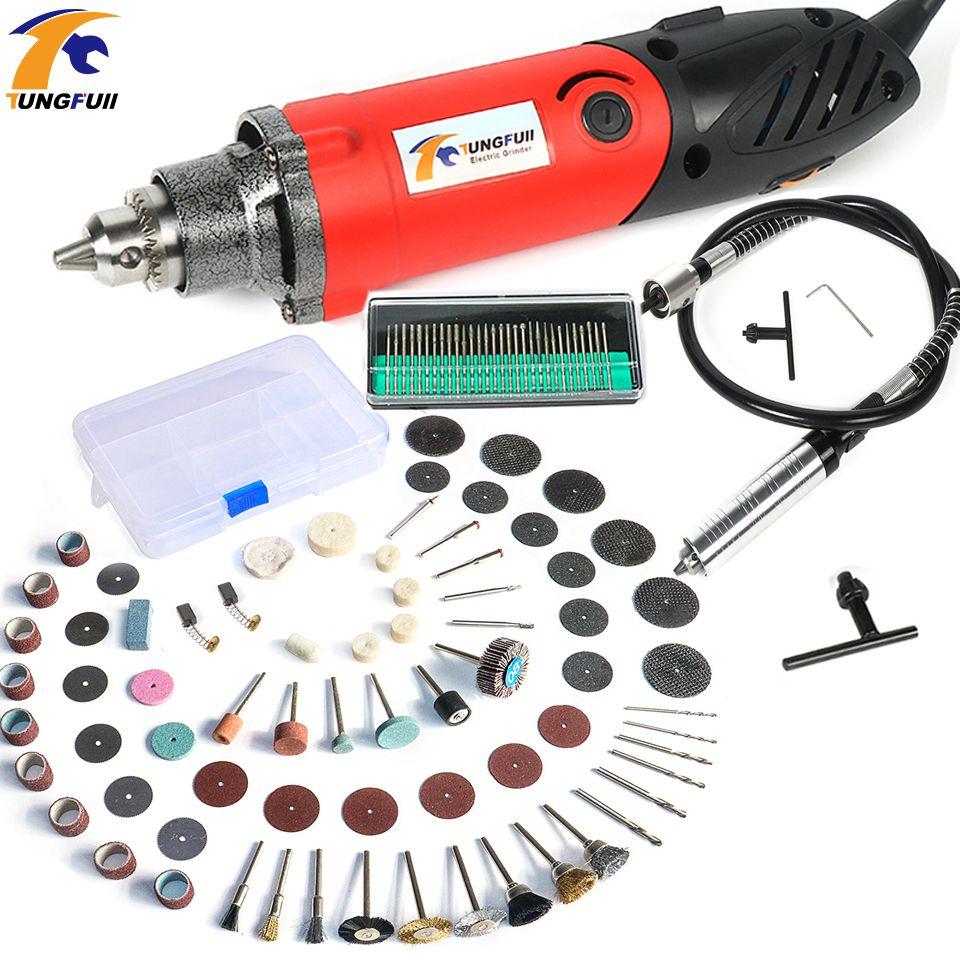 Tungfull 500W Mini Electric Drill for Dremel Style Metalworking Drilling Machine Machine Polishing Engraver Electric