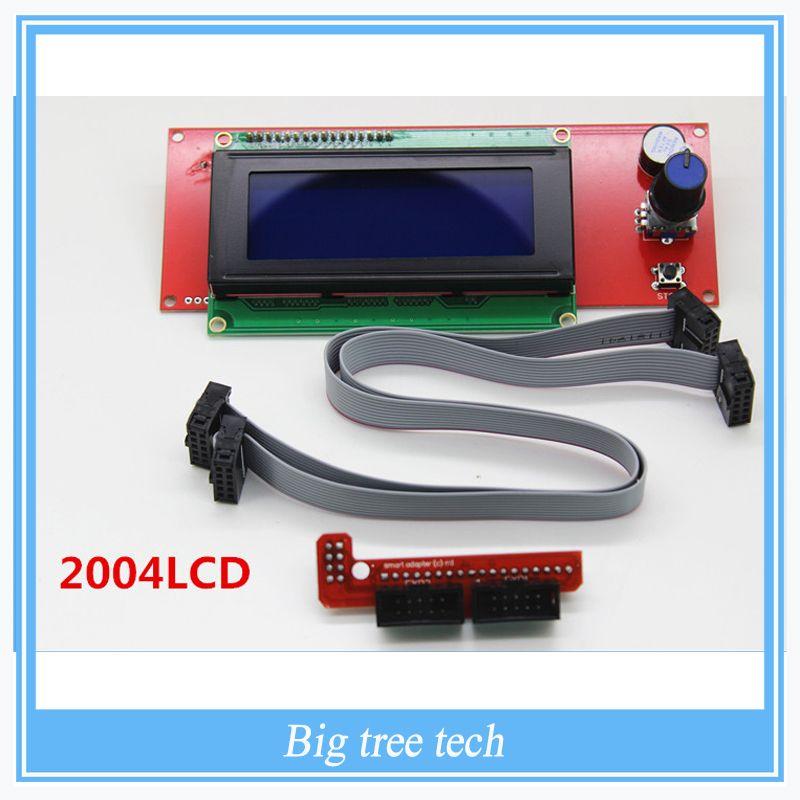 1 Pcs LCD Display 3D Printer <font><b>Reprap</b></font> Smart Controller <font><b>Reprap</b></font> Ramps 1.4 2004LCD Control