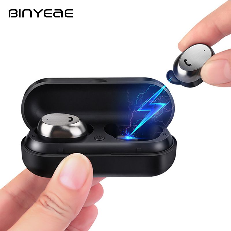 BINYEAE M9 TWS 4.1 Blutooth Earphone In-Ear Earbuds Mini Wireless Earphones with Charging Box for Xiaomi iphone MP3