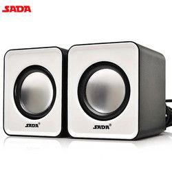 SADA 1 Pair Portable Desktop Computer Speakers Mini Notebook Subwoofer Laptop Multimedia Speakers PC Mobile Phone Speakers