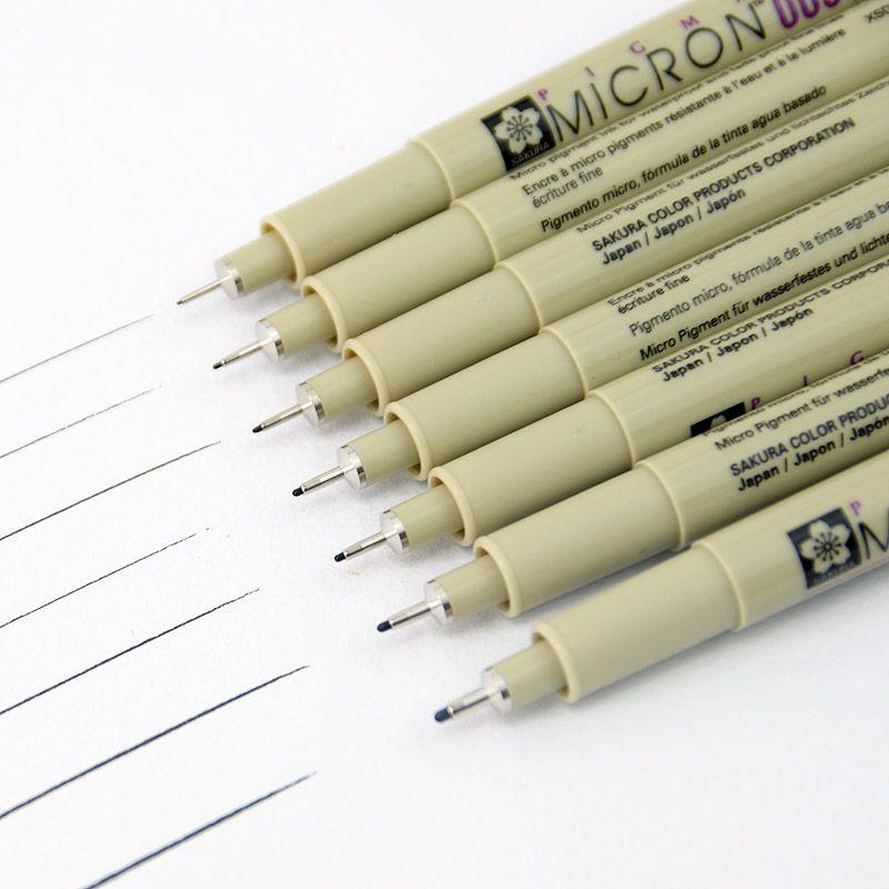 Marqueurs dessin stylo Sakura Pigma Micron Aiguille Stylo Liner Brush (Papier marque imperméable) D'écriture Fournitures Tubulaire technique stylo