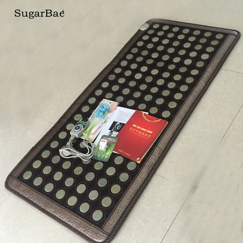 New Sale Tourmaline Jade Stone Massage Cushion Thermal Sofa Mattress Soft Jade Mat Infrared Heating Mat 70X160CM Free Shipping