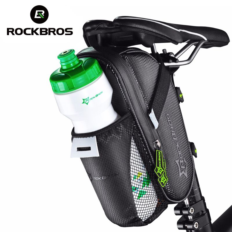 ROCKBROS MTB Bike Rear Bag Rainproof Nylon Bike Saddle Front Bag Outdoor Cycling Mountain Bike <font><b>Back</b></font> Seat Tail Pouch Package