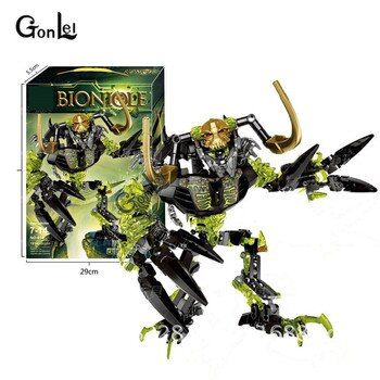 NEW 191Pcs Biochemical Warrior Bionicle Umarak Destroyer Witch Marca Building Block Educational Toys Compatible with 71316 Toys