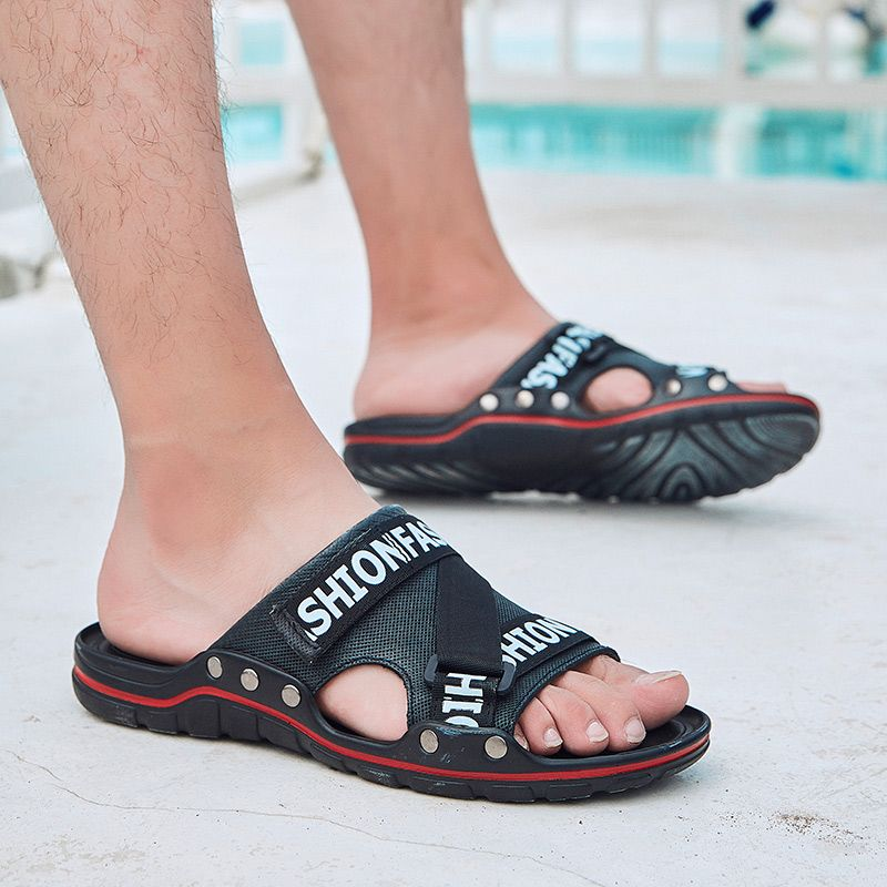 Mode männer hausschuhe outdoor Männer Sandalen Slides Strand Flip-Flops sommer Luxus Marke männer Sandalen Casual Für Männer Hausschuhe l5