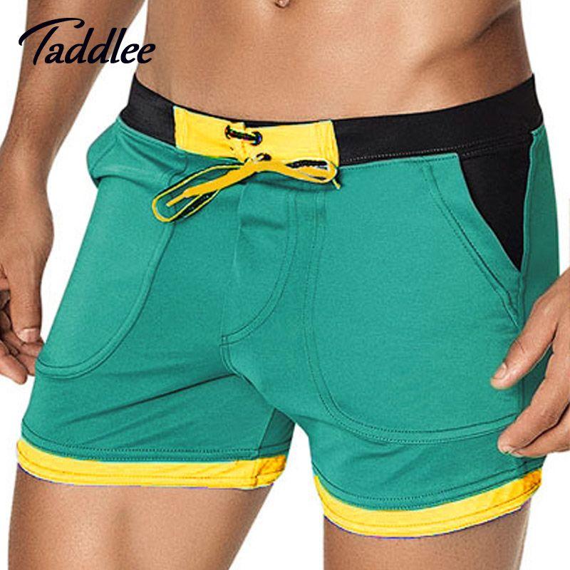 Taddlee Brand Man Men's Swimwear Swim Beach Board shorts swim trunks Swimsuits Bathing Suits Men Swimming Boxer <font><b>Surf</b></font> Wear Gay