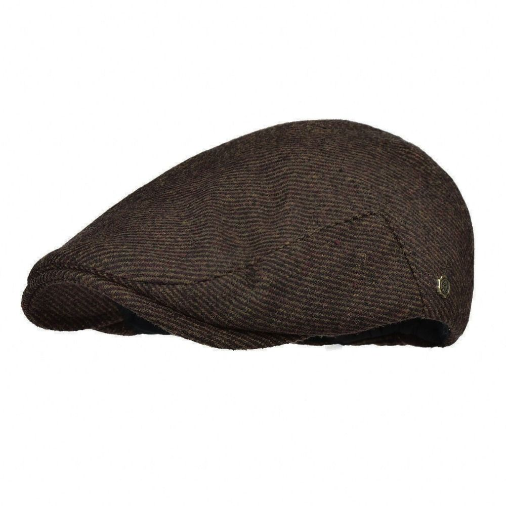 VOBOOM Flat Cap Men Autumn Winter Woolen Blend Gatsby Cabbie Hat Warm Soft Newsboy Male Boina 186