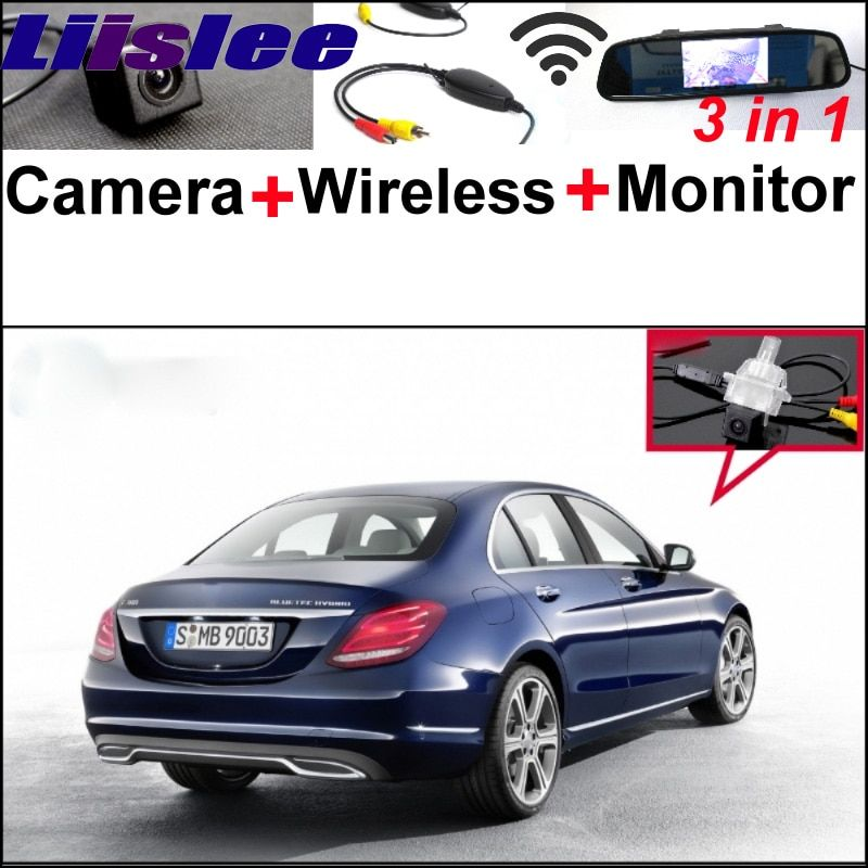 3 in 1 Special WiFi Camera + Wireless Receiver + Mirror Monitor Parking BackUp System For Mercedes Benz C MB W205 2014 2015
