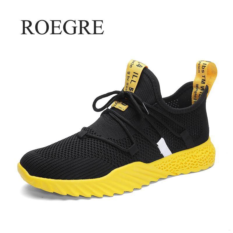 2019 nouvelles chaussures décontractées hommes respirant automne été chaussures en maille baskets à la mode respirant léger mouvement chaussures