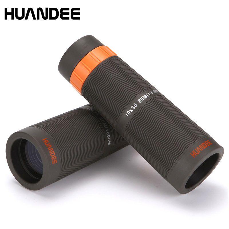 HUANDEE Jagd BAK4 Stickstoff Monokulare zoom HD Teleskop 10X36 wasserdichte Reise High Power Vergrößerung Qualität fernglas