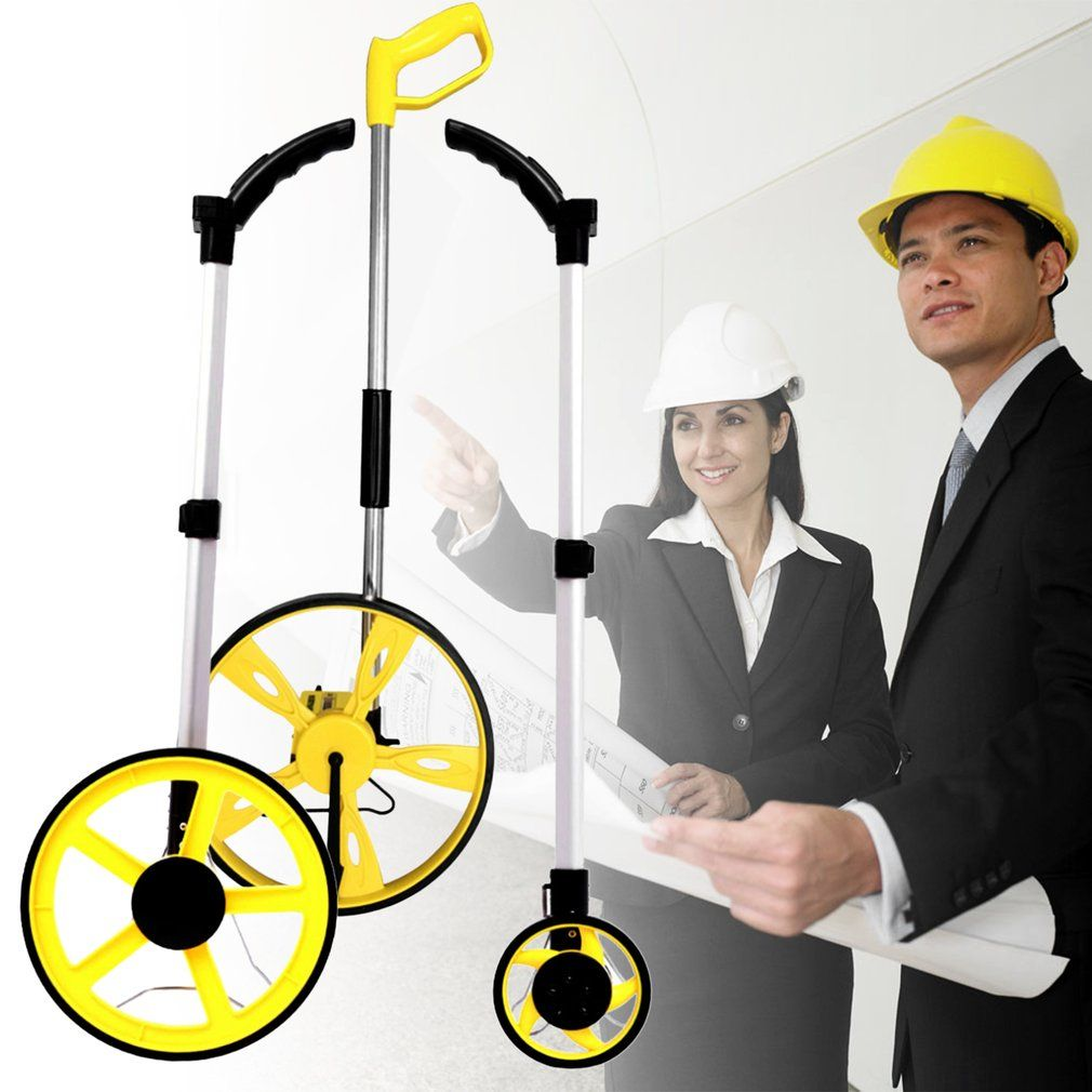 1pcs Stable Folding Distance Measuring Meter Wheel Hand-held Distance Surveying Rangefinder Portable Counter Surveyor Tool Sale