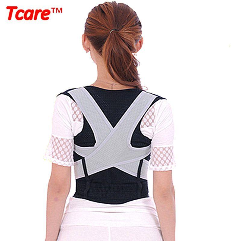 Tcare unisexe dos épaule Posture correcteur soins de santé soulagement de la douleur dos orthèse soutien dos ceinture M-XL pour femmes homme