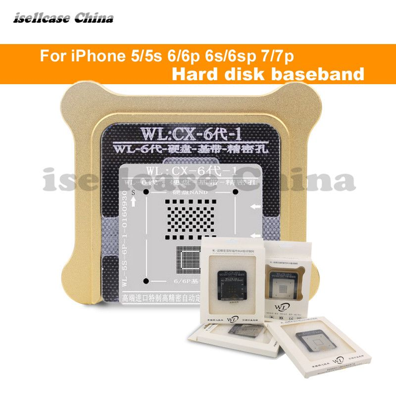 Wozniak WL Best for iphone 5 5s 6 6s 7 Plus NAND processor BGA reball Tin Net HDD Baseband Stencil Great Repairing Base Tool