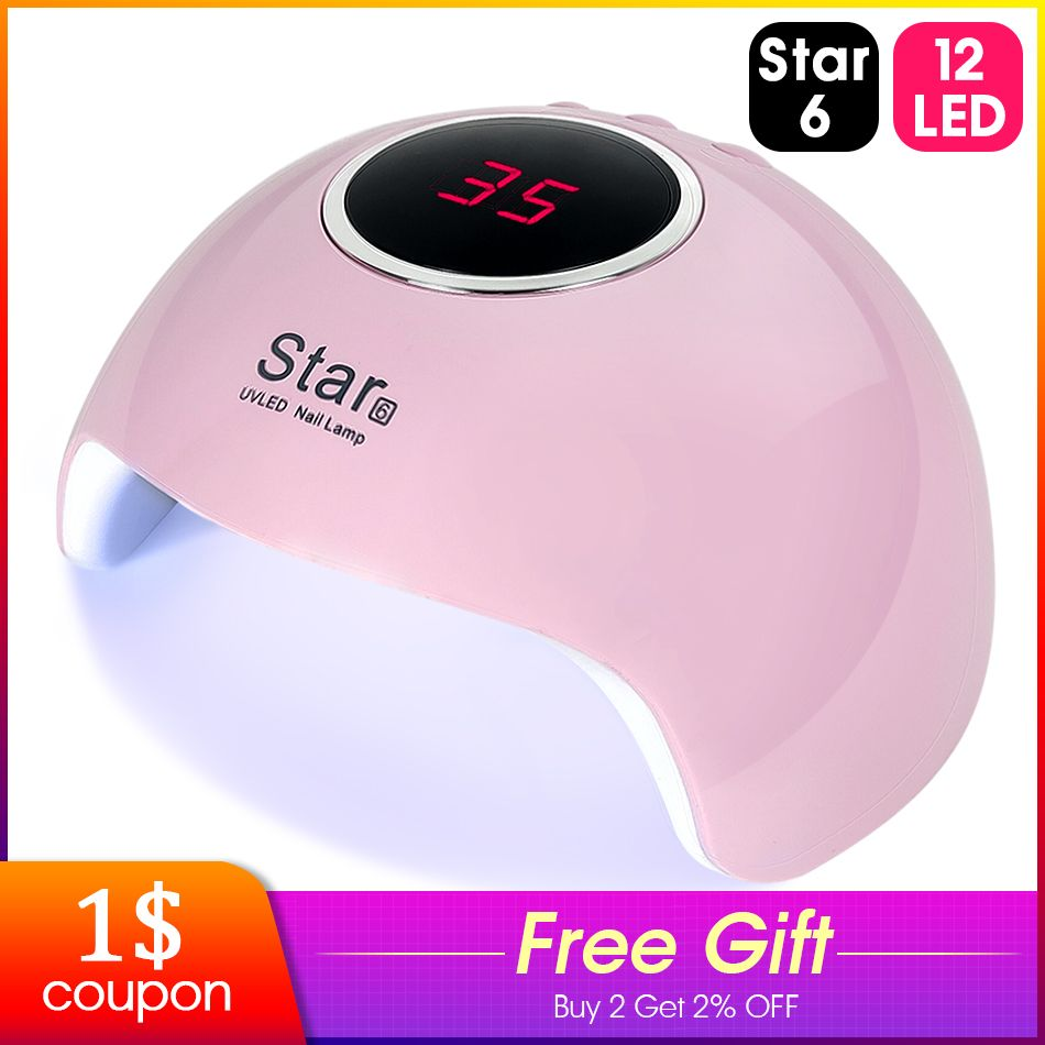 ROHWXY Nail Dryer For Nail LED UV Lamp 36W MINI USB Lamp For Manicure LCD Display Drying All Gels Nail Polish Nail Art Tools