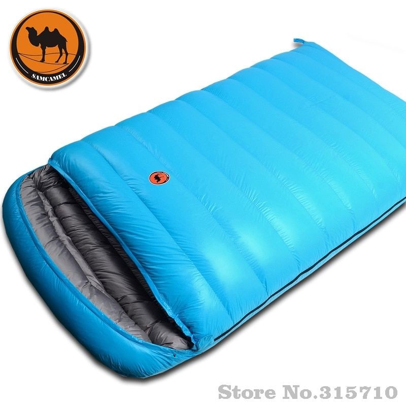 2 Person Hiking Travel Indoor Travel Cycling Spring Summer Winter Autumn Envelope Duck Down Couple Outdoor Camping Sleeping Bag