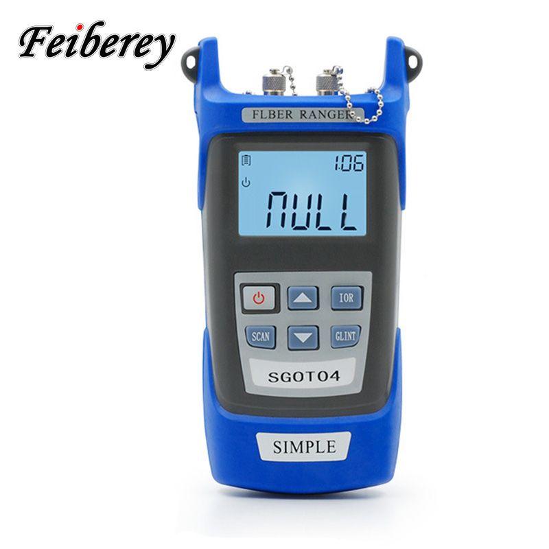 Handheld Einfache OTDR 60 km Optical Fiber Ranger 1310/1550nm SM Mini OTDR Optische Kabel Haltepunkt Locator Faser Ranger mit VFL
