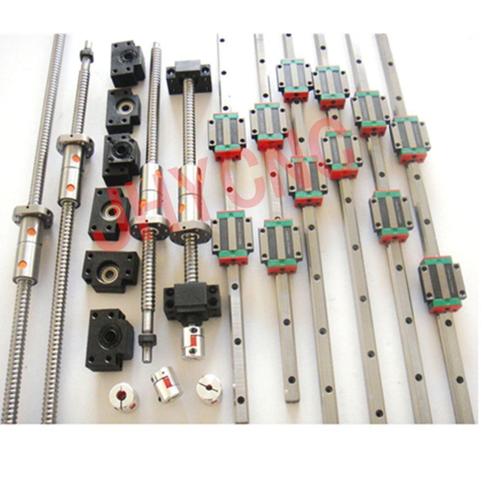 3 sätze linear schiene profil führung + 4 kugelgewindetriebe ball schrauben DFU1605 + 4 sets BK/BF12 + 4 ballut Gehäuse + 4 kupplungen