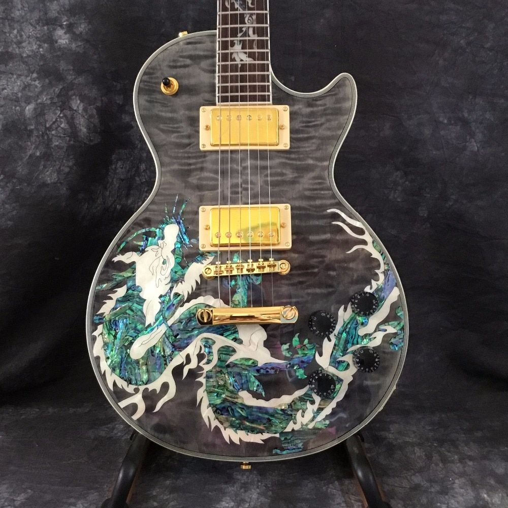 Leader of sales, wholesale of high quality Dragon figure Top G Custom Guitars and electric guitar for Free shipping