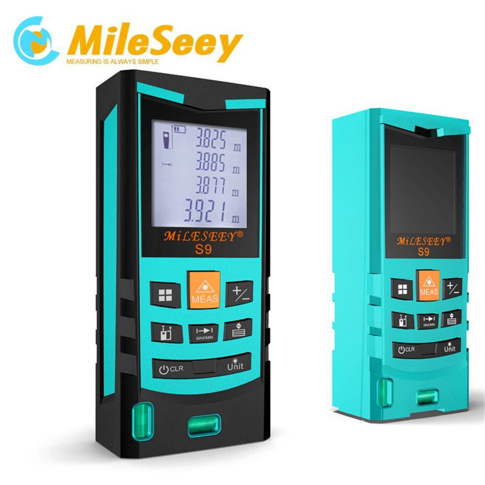 Laser télémètre Diastimeter Mileseey S9 100 M Télémètre Laser Mesure Bleu avec Niveau À Bulle