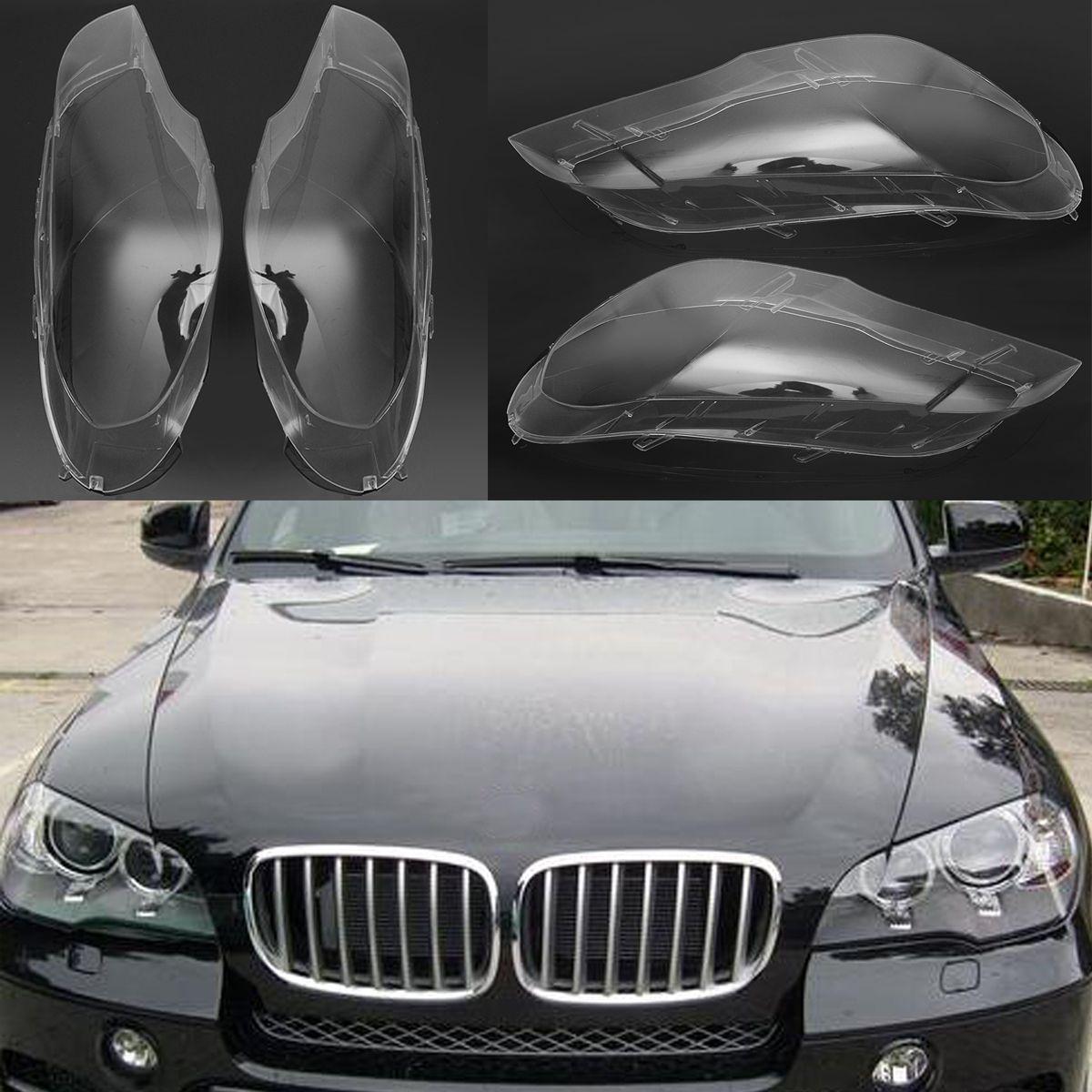 1 paar Links & Rechts Transparent Scheinwerfer Scheinwerfer Objektiv Ersatz Abdeckung für BMW 2007-2012X5 E70 Auto lichter Scheinwerfer Lampe Fall