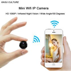 HD 1080P Mini Wifi IP Camera Infrared Night Vision Micro Network Camcorder Charge While Recording Video Voice Car Sport DV