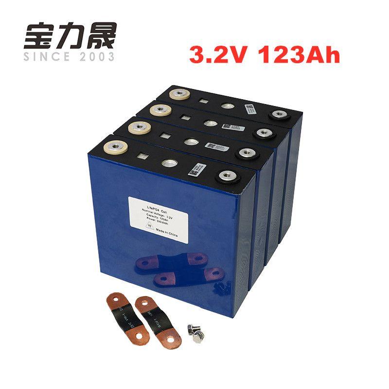 4 PCS 3,2 V 123Ah lifepo4 batterie Lange Lebensdauer Zyklen 4000 Mal 3C Wiederaufladbare solar 12 12,8 V 120Ah zellen nicht 100Ah EU UNS STEUER FREIES