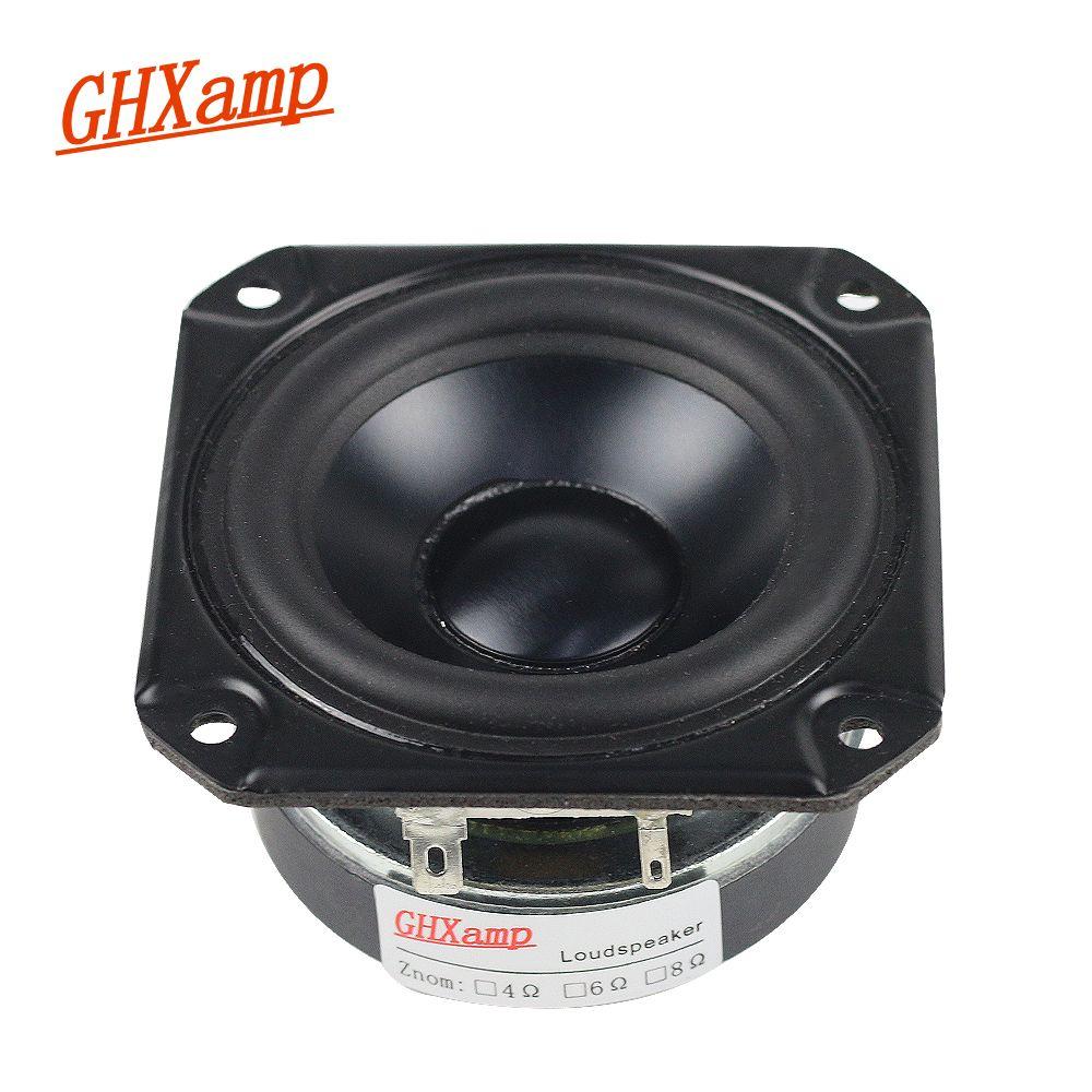 GHXAMP 3 INCH 4OHM 40W Full Range Speaker Rubber Tweeter Midrange Woofer Low frequency For Peerless Speaker Bluetooth DIY
