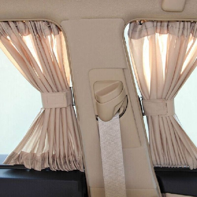 2pcs/Set Universal Car Side Window Sunshade Curtains Auto Windows Curtain Sun Visor Blinds Cover Car-Styling S,L Size