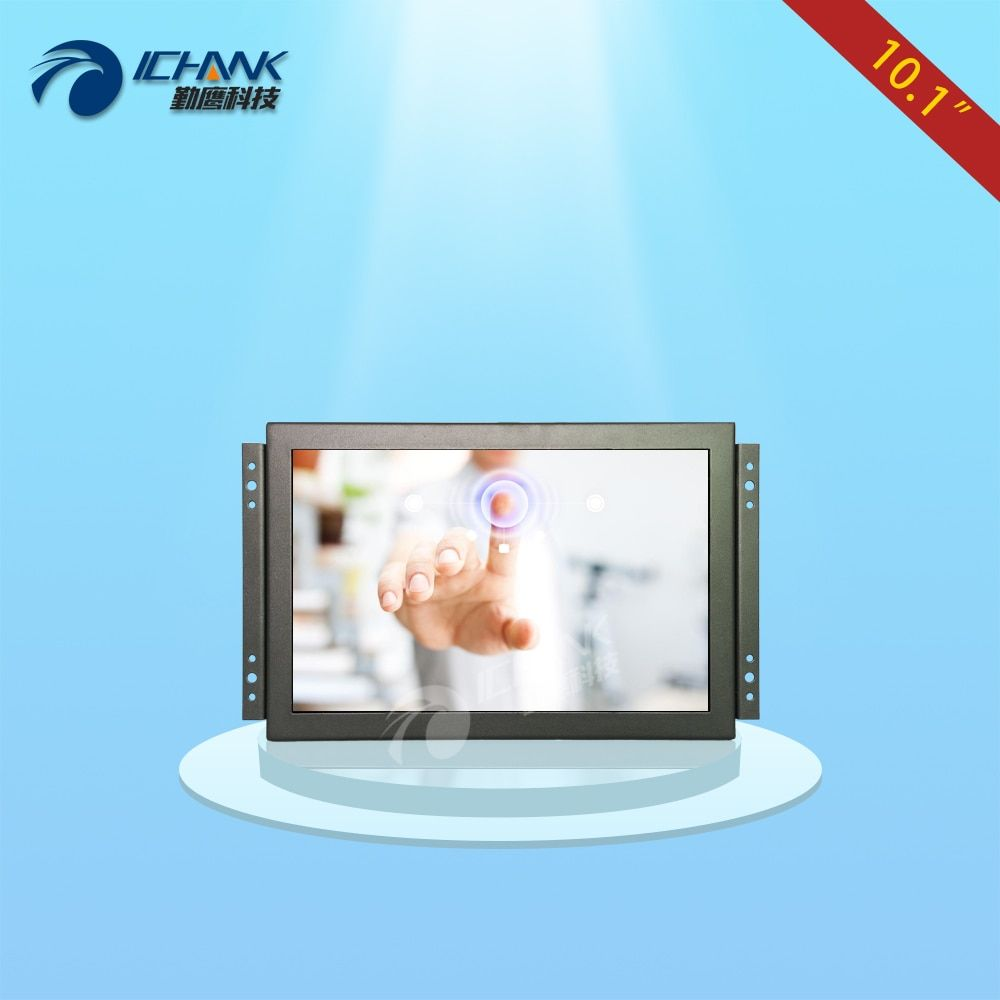 ZK101TC-V56H/10.1 inch 1920x1200 IPS full view HDMI metal case Embedded Open frame industrial touch monitor LCD screen display