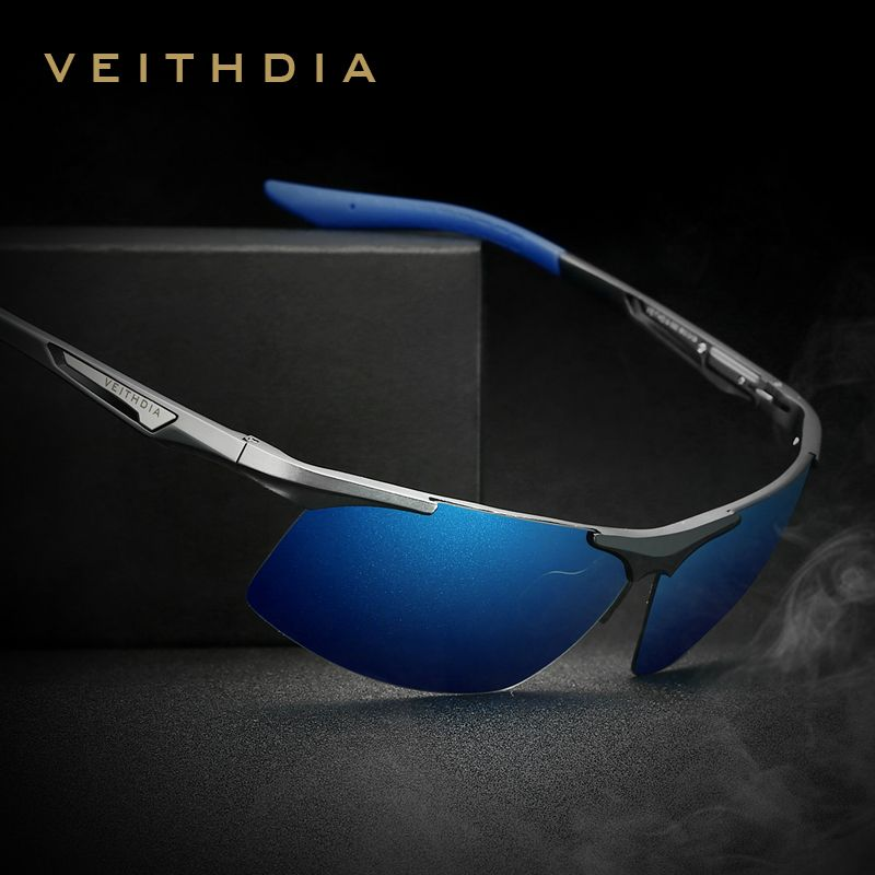 VEITHDIA <font><b>Aluminum</b></font> Magnesium Men's Sunglasses Polarized Men Coating Mirror Glasses oculos Male Eyewear Accessories For Men 6562