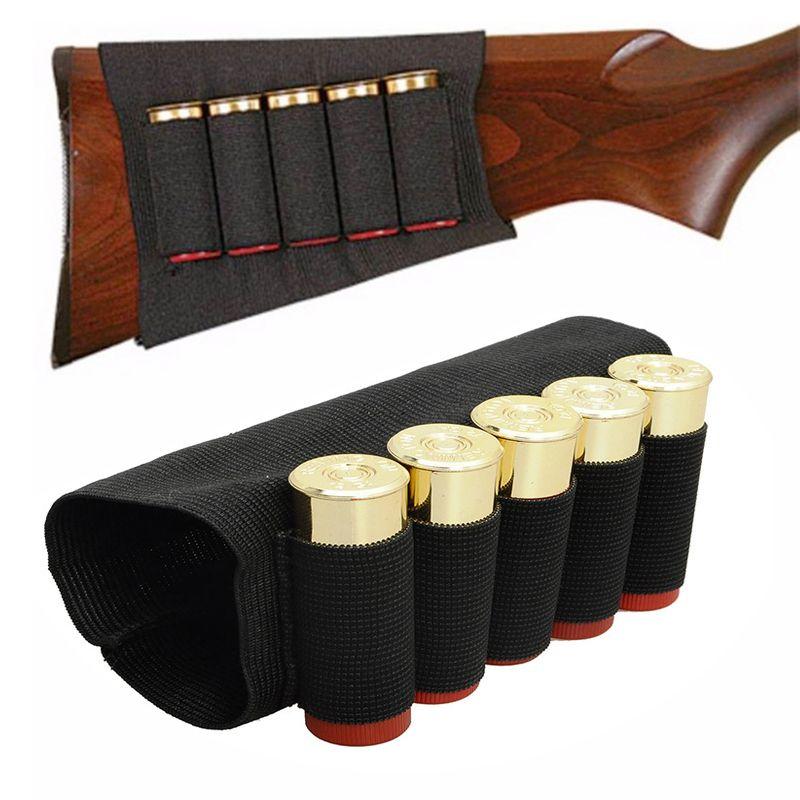 Im freien Airsoft Rifle Shotgun Schalen 5 Butt patronen Lager Shell Halter Elastische Shotshell Munition Träger Jagd Kits