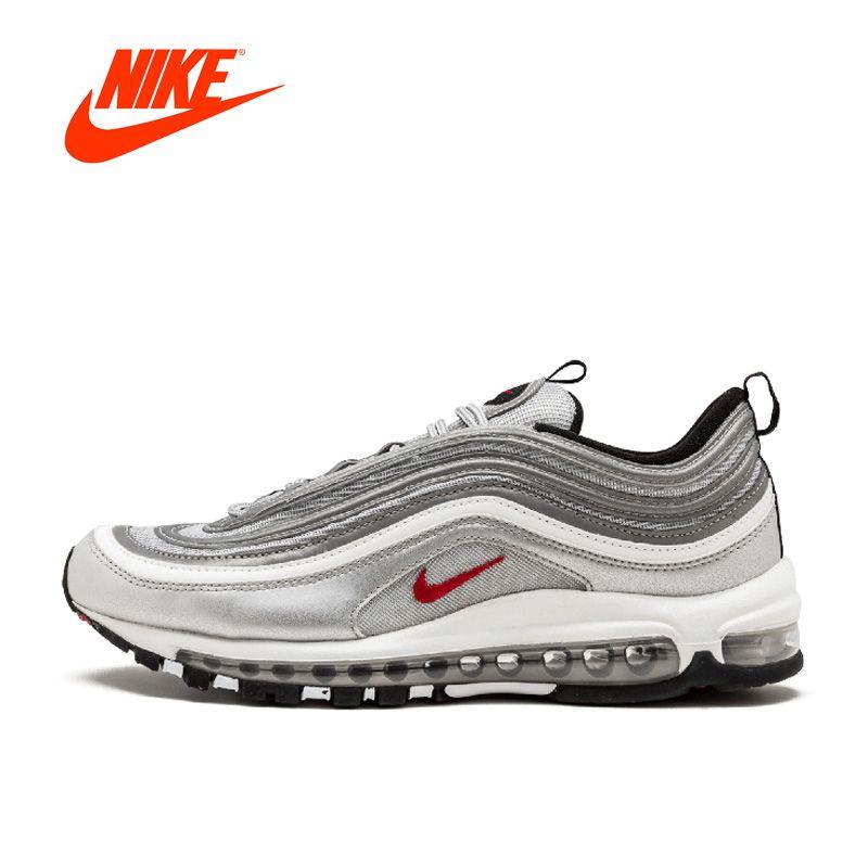 Новое поступление Аутентичные Nike Air Max ОГ 97 QS Для женщин BREATHEABLE Кроссовки спортивные Спортивная обувь