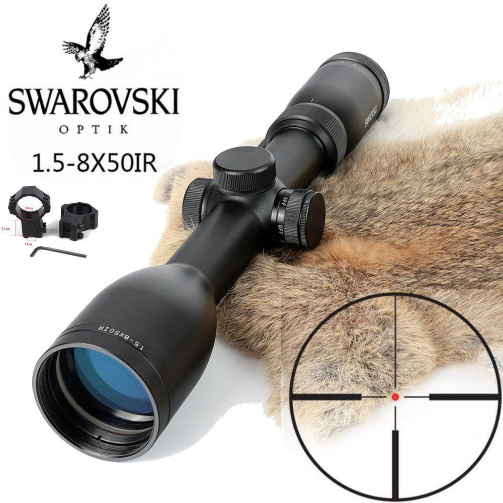 Nachahmung Swarovskl 1,5-8x50 IRZ3 Zielfernrohre F15 Red Dot Absehen Jagd Zielfernrohr Made In China