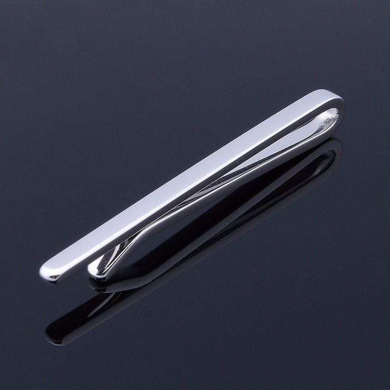 Pince à cravate Design Simple HAWSON couleur argent affaires et avocat barre à cravate pour cravate Skinny 4 Options de couleurs livraison gratuite