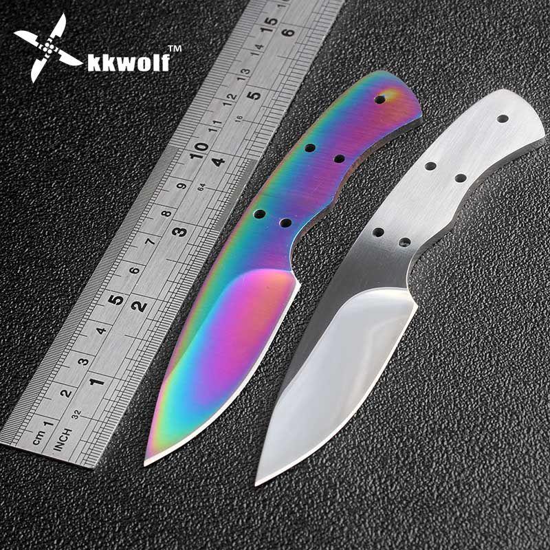 KKWOLF bricolage couteau de chasse lame tranchante couteau fait main billet Camping tactique couteaux de survie accessoires EDC outils livraison gratuite