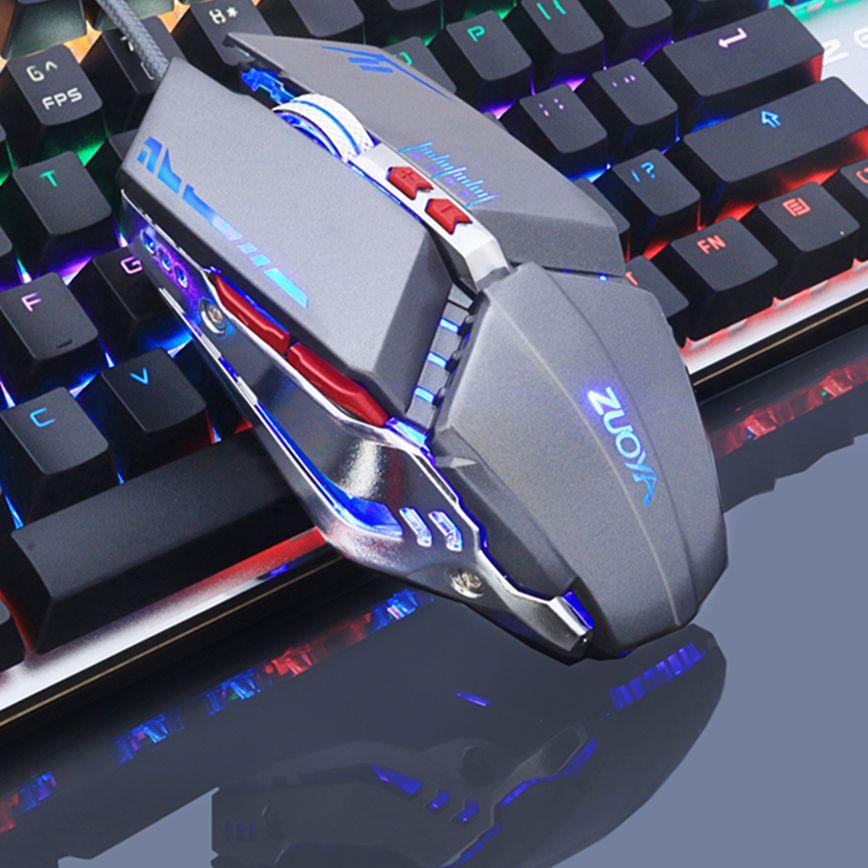 Gaming Mouse Mause DPI Réglable Ordinateur Optique LED Jeu Souris Filaire USB Jeux Câble Souris LOL pour Professionnel Gamer